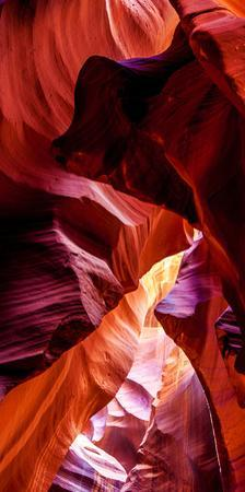 Upper Antelope Canyon Rock Formations, Page, Arizona, USA