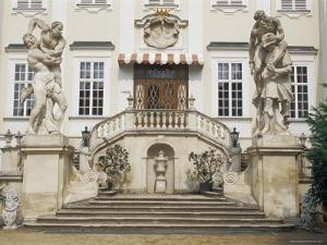 Facade, Inner Courtyard, Vranov Chateau, South Moravia, Czech Republic by Upperhall