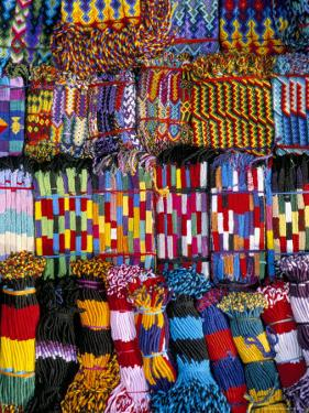 Friendship Bracelets, Panajachel, Lake Atitlan, Guatemala, Central America by Upperhall