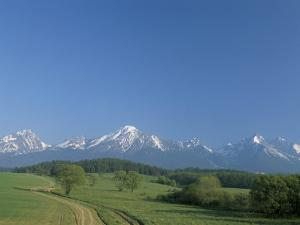 High Tatra Mountains from Near Poprad, Slovakia by Upperhall