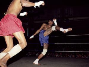 Burmese Boxing, No Kicks or Punches Barred, Mandalay, Myanmar (Burma), Asia by Upperhall Ltd