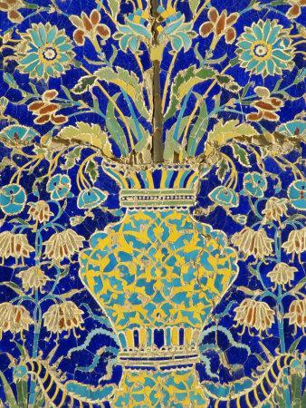 Ceramic Detail, Nadir Divanbegi Madressa, Bukhara, Uzbekistan, Central Asia