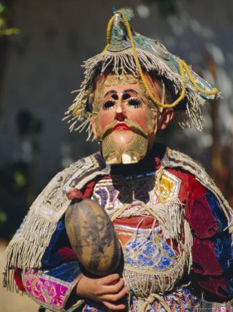 Chichicastenango, Dance of the Conquistadors, Guatemala, Central America by Upperhall Ltd