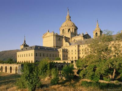 Eastern Facade of the Monastery Palace of El Escorial, Unesco World Heritage Site, Madrid, Spain by Upperhall Ltd