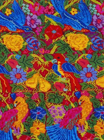 Huipil Cloth Pattern, Guatemala, Central America by Upperhall Ltd