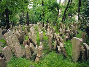 Old Jewish Cemetery, Josefov, Prague, Czech Republic, Europe by Upperhall Ltd
