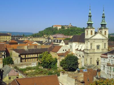 Rooftops and St. Michael's Church, Brno, Czech Republic, Europe by Upperhall Ltd