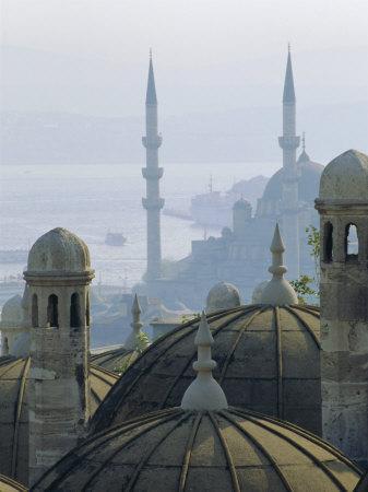 Suleymaniye Complex Overlooking the Bosphorus, Istanbul, Turkey, Europe