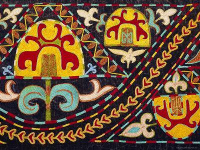 Traditional Kirghiz Embroidery, Kyrgystan, Central Asia