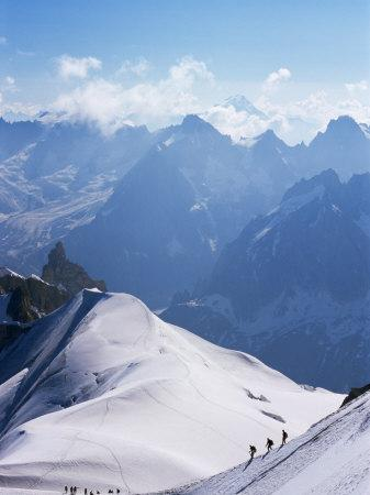 View from Mont Blanc Towards Grandes Jorasses, French Alpes, France
