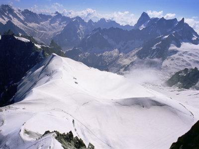 View from Mont Blanc Towards Grandes Jorasses, French Alps, France