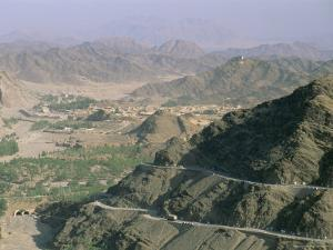 View into Afghanistan from the Khyber Pass, North West Frontier Province, Pakistan, Asia by Upperhall Ltd