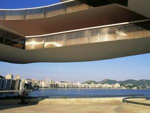 View of Niteroi, Museo De Arte Contemporanea, by Oscar Niemeyer, Rio De Janeiro, Brazil by Upperhall Ltd