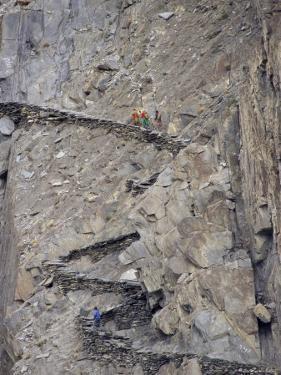 Winding Mountain Path, Near Passu, Bojal, Pakistan, Asia by Upperhall Ltd