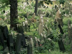 Old Jewish Cemetery, Josefov, Prague, Czech Republic by Upperhall