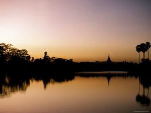 Sunset on Royal Lake, Yangon (Rangoon), Myanmar (Burma) by Upperhall