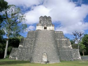 Temple 2 from the Front, Mayan Site, Tikal, Unesco World Heritage Site, Guatemala, Central America by Upperhall