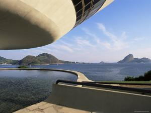 View Across Bay to Rio from Museo De Arte Contemporanea, by Oscar Niemeyer, Rio De Janeiro, Brazil by Upperhall