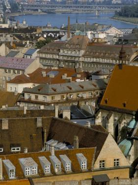 View Over Bratislava to the River Danube, Slovakia by Upperhall