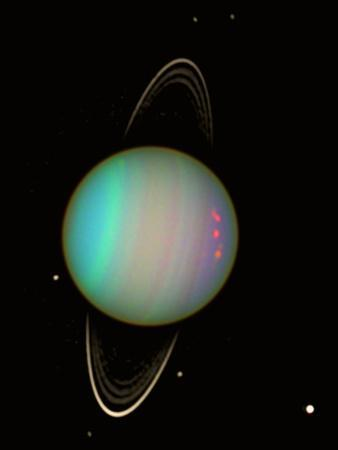 "Poster Print /""Uranus and its tiny moon Puck/"""