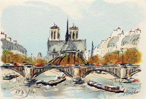 Paris, L'Abside de Notre Dame by Urbain Huchet