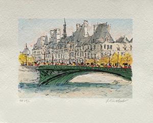 Paris, L'Hôtel De Ville by Urbain Huchet