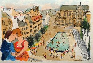 Paris, La Fontaine Stravinsky by Urbain Huchet