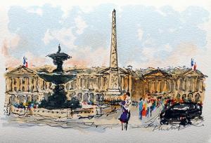 Paris, La Place De La Concorde by Urbain Huchet