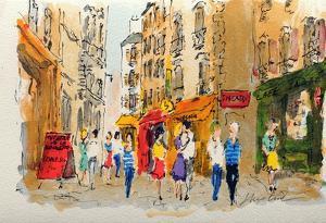 Paris, La Rue De La Huchette by Urbain Huchet
