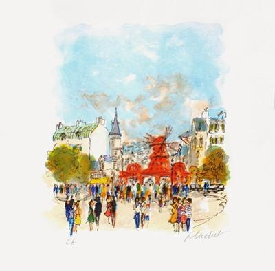 Paris, Le MouIIn Rouge Iv by Urbain Huchet