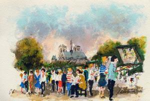 Paris, Les Bouquinistes by Urbain Huchet