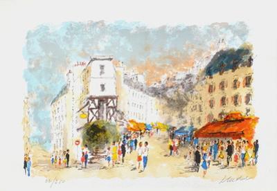 Paris, Montmartre La Rue Lepic by Urbain Huchet