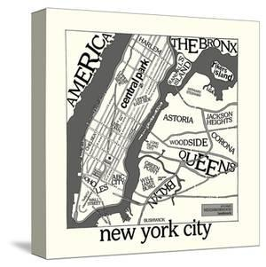 New York Map by Urban Cricket