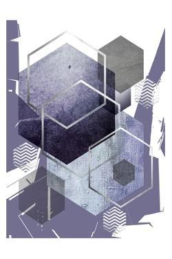 Abstract geo Ultra Violet 1 by Urban Epiphany