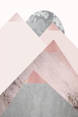Blush Pink Mountains 2 by Urban Epiphany
