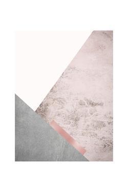 Blush Pink Mountains 3 by Urban Epiphany