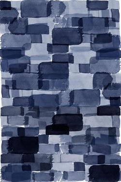 Navy Blue Watercolor Block by Urban Epiphany