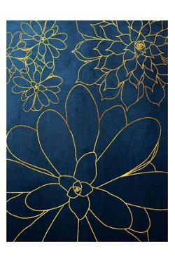 Navy Gold Succulent 2 by Urban Epiphany