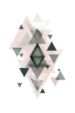 Pink Green Geometric 1 by Urban Epiphany