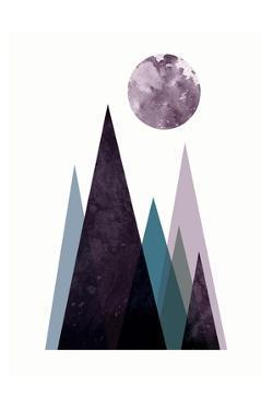 Scandi Mountains Blue 2 by Urban Epiphany