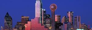 Urban Skyline at Night, Dallas, Texas, USA