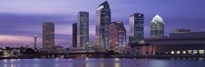 Urban Skyline at Night, Tampa, Florida, USA