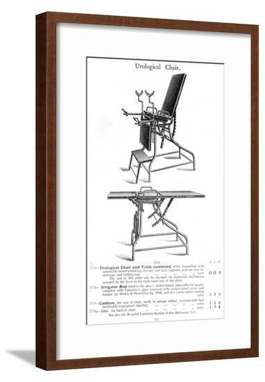 Urological Chair, Table--Framed Giclee Print