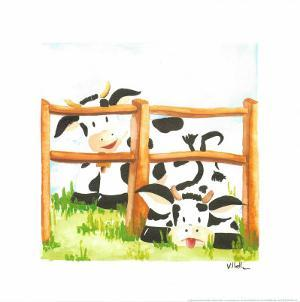 Littles Cows And Fences by Urpina