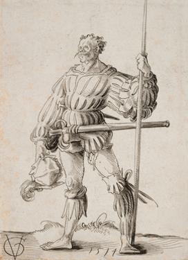 Soldier with a Lance, 1514 by Urs Graf