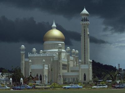 Sultan Omar Ali Saifuddin Mosque, Completed 1958, Bandarseribeg, Brunei, Borneo, Southeast Asia