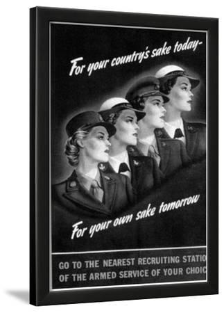 US Armed Services (Recruiting Women, 1944) Art Poster Print