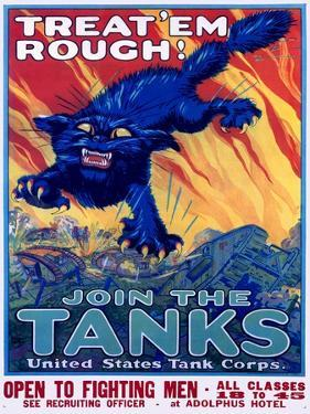 US Army Recruiting Poster 'Join the Tanks'