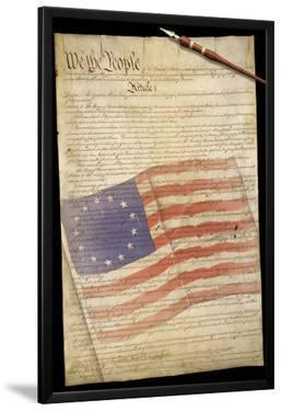 US Constitution 13 Colonies Flag Overlay