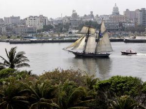 US-Flagged Vessel Amistad Nears the Port of Havana